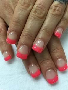 gel french pink nail art designs 2016 nail art styling