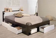 lit tiroir caf 233 blanc lise lit adulte en bois taille