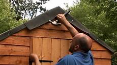 dachdecken mit dachpappe how to felt a shed roof