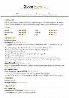 quantity surveyor resume sle resumekraft