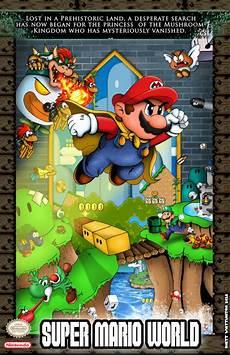 mario world poster ausretrogamer