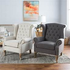chairs for livingroom belham living tatum tufted arm chair with nailheads