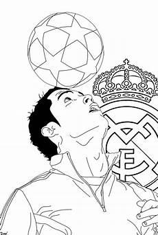 cristiano ronaldo juggling coloring page in 2020