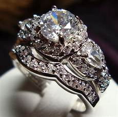 stunning cz vintage style engagement wedding rings