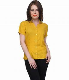sy6da buy syda yellow viscose shirts at best prices in