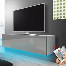 meuble d entrée moderne 39907 meuble tv suspendu 140 cm blanc mat gris brillant 233 clairage rgb multicolore
