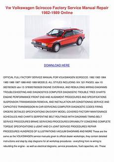 car repair manuals download 1985 volkswagen scirocco interior lighting vw volkswagen scirocco factory service manual by sharee timoteo issuu