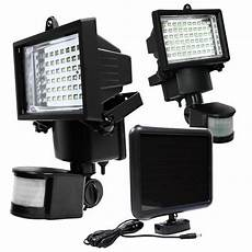 led solar powered motion sensor security flood light outdoor garage light 60 ebay
