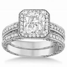 square halo wedding band diamond engagement ring platinum 0 52ct u3264