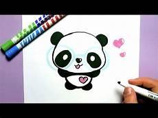 ein kawaii panda selber malen diy