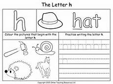 letter h for worksheets 24473 letters of the alphabet teaching pack 24 powerpoint presentations and 26 worksheets by