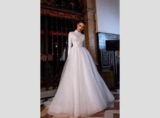 Vivian's Bridal 2019 Hot Long Sleeve High Neck Muslim