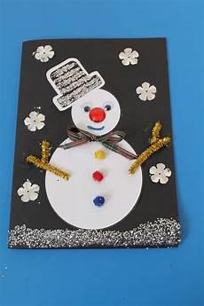 karten basteln weihnachten card craft idea for children