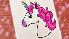 unicorn einfach malvorlagen diy kawaii emoji unicorn zeichnen s 252 223 es einhorn in