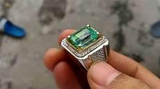 cincin batu zamrud emerald colombia 6 07 cts youtube