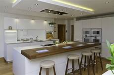 Bulthaup B3 Island With Walnut Bar Kitchen Designed By