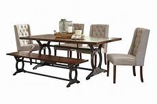 Kitchen Table Sets Michigan by Laurel Dining Table 4 Side Chairs Bench At Gardner White