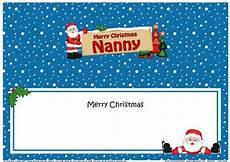 merry christmas nanny card christmas nanny santa signpost large dl matching insert cup481948 359 craftsuprint