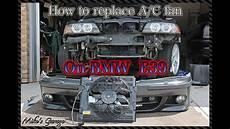 how to replace auxiliary cooling fan bmw 540i e39 как поменять вентилятор кондиционера на
