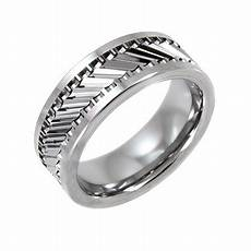 men s tungsten 8mm gear pattern wedding band mens ring