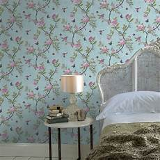 graham brown chinoiserie bird butterfly floral leaf