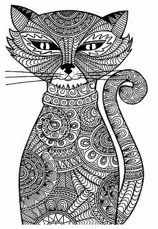cat animals coloring pages for adults justcolor