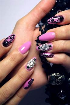 tutorial semipermanente gothic queen nail art
