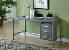 amazon home office furniture amazon com monarch reclaimed look silver metal office