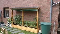 gewächshaus tomaten selber bauen ein tomatenhaus ans haus angelehnt bauanleitung zum selber bauen garten