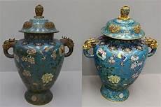vasi cinesi cloisonne magnifica coppia di vasi cloisonne cinesi appartenuti a