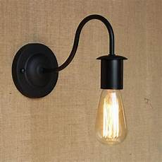 simple modern industrial vintage black iron wall l loft style curve arm hallway retro wall