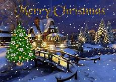 merry christmas happy new year santa claus sow winter snowing christmas tree evening ha