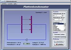 plattenkondensator spannung ladung q feldst 228 rke