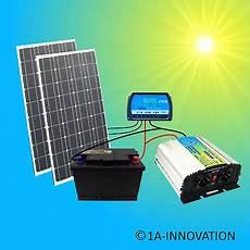 200w solaranlage komplettpaket 220v akku solarmodul 1000w