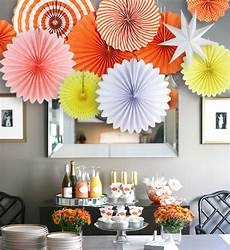 11piece wedding bridal shower decorations paper fans and stars diy party home decorations for