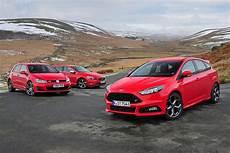 volvo v40 vs ford focus ford focus st diesel vs volvo v40 vw golf gtd auto express