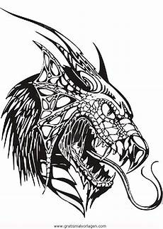 ausmalbilder fantasie drachen drachenkopfe 3 gratis malvorlage in drachen fantasie