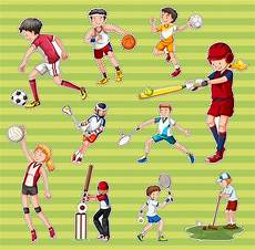 type de sport sticker set with different types of sports