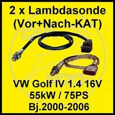 2 lambdasonden vw golf iv 1 4 16v 55kw 75ps motoren ape