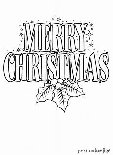 merry christmas sign coloring page print color fun