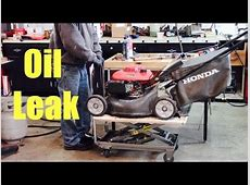 Why Is Oil On The Deck? Honda Lawnmower   YouTube