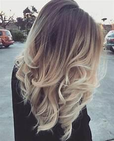 Ombre Look Balayage Blond Braun Mittellange Haare