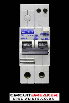 proteus 32 type c 4 5ka 30ma double pole rcbo rcd mcb 32mcr proteus circuit breaker