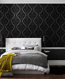 Barock Tapete Schlafzimmer - schlafzimmer tapeten schwarze farbe barock muster eshara