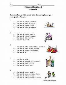 la famille worksheet phrases illustr 233 es 1 la famille worksheet for 6th 7th grade lesson planet