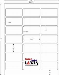 2 625 quot 1 25 quot white polygloss for inkjet or laser printers laser inkjet labels