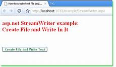 asp net how to create text file and write text programmatically