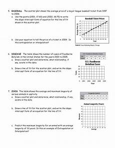 line of best fit worksheets delibertad lines of best