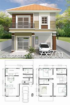 simple sims 3 house plans home design plan 7x7m with 3 bedrooms samphoas
