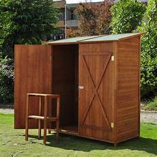outsunny garden shed cabinet box unit tool storage shelves wooden toolbox ebay